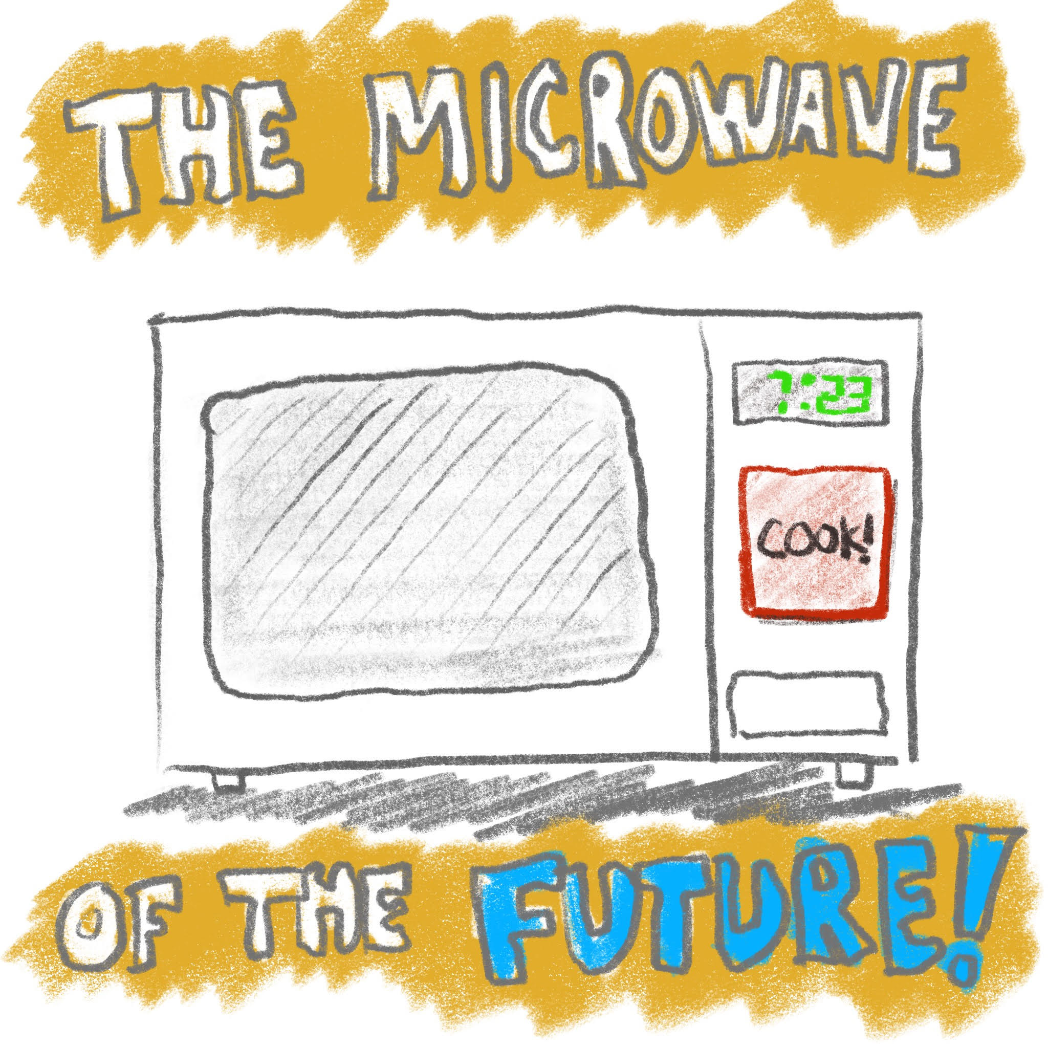 Microwave of the future, still cooks pizza rolls of the past